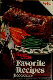 Cover of: Family Circle Favorite Recipes Cookbook | Family Circle Editors, Ralph Genovese