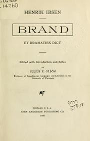 Cover of: Brand by Henrik Ibsen