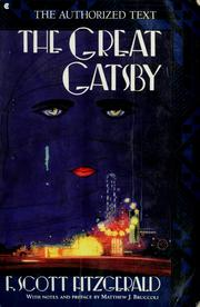 Cover of: The Great Gatsby by F. Scott Fitzgerald