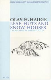 Cover of: Leaf-huts and snow-houses | Olav H. Hauge