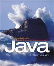 Cover of: An Introduction to Object-Oriented Programming With Java | C. Thomas Wu (Otani)