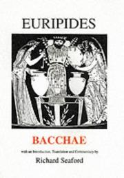 Cover of: Bacchae (Plays of Euripides) by Richard Seaford