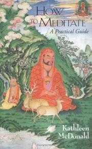 Cover of: How to Meditate by Kathleen McDonald