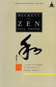 Cover of: Beckett and Zen by Foster, Paul