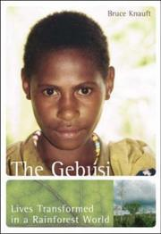 Cover of: The Gebusi | Bruce M. Knauft