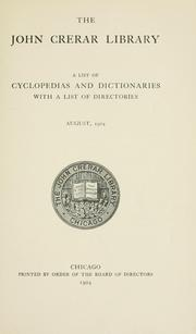 A list of cyclopedias and dictionaries, with a list of directories