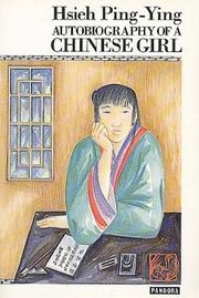 Cover of: Nü bing zi zhuan | Xie, Bingying