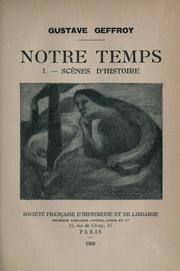Cover of: Notre temps | Gustave Geffroy