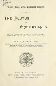 Cover of: Plutos | Aristophanes