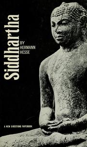 Cover of: Siddhartha | Hermann Hesse