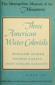 Three American water-colorists