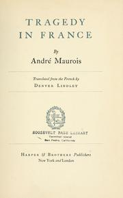 Cover of: Tragedy in France | André Maurois