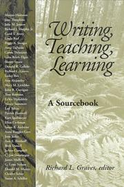 Cover of: Writing, teaching, learning |