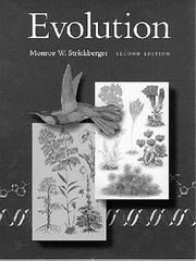 Cover of: Evolution by Monroe W. Strickberger