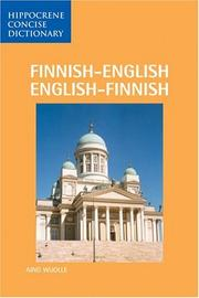 Cover of: Finnish-English/English-Finnish Dictionary (Hippocrene Concise) | Aino Wuolle