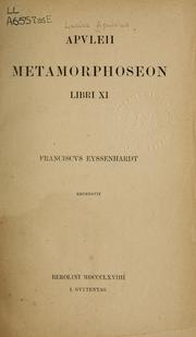 Cover of: Metamorphoses | Apuleius