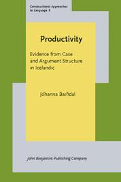 Cover of: Productivity by Jóhanna Barðdal