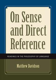 Cover of: On Sense and Direct Reference by Matthew Davidson
