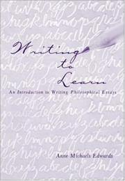 Cover of: Writing to Learn | Anne M Edwards