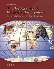 Cover of: Geography of Economic Development by Timothy J. Fik