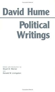 Cover of: Political writings | David Hume