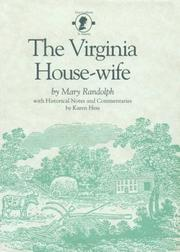 Cover of: The Virginia housewife by Mary Randolph