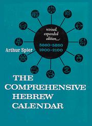 Cover of: The comprehensive Hebrew calendar | Arthur Spier