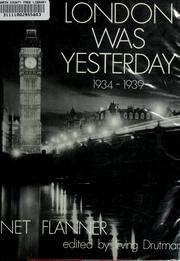 London was yesterday, 1934-1939