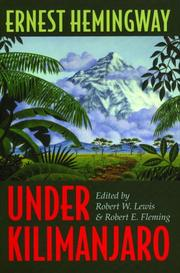 Cover of: Under Kilimanjaro by Ernest Hemingway