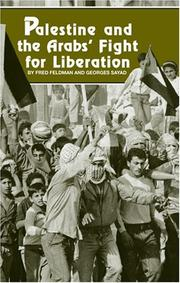 Cover of: Palestine and the Arabs' fight for liberation | Fred Feldman