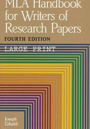 Cover of: MLA handbook for writers of research papers | Joseph Gibaldi