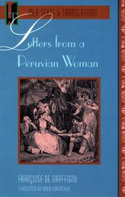 Cover of: Letters from a Peruvian woman by Grafigny Mme de