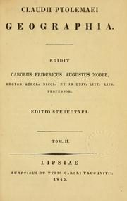 Cover of: Geographia by Ptolemy, Ptolemy