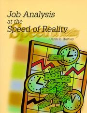 Cover of: Job analysis at the speed of reality | Darin E. Hartley
