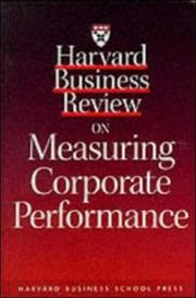 Cover of: Harvard business review on measuring corporate performance |