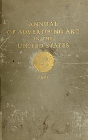 Cover of: ART DIRECTORS ANNUAL 1921 by Art Directors Club of New York