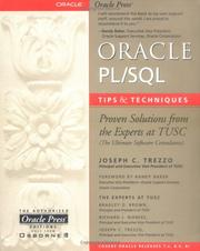 Cover of: Oracle PL/SQL Tips and Techniques | Joseph C. Trezzo