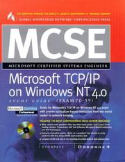 Cover of: MCSE Microsoft TCP/IP on Windows NT 4.0 Study Guide (Exam 70-59) by Syngress Media