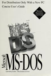Cover of: MS-DOS user's guide by Chris DeVoney