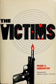 Cover of: The victims by Frank Carrington