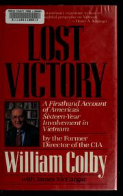 Cover of: Lost victory by William Egan Colby