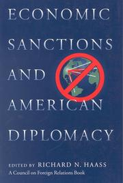 Cover of: Economic sanctions and American diplomacy | Richard Haass