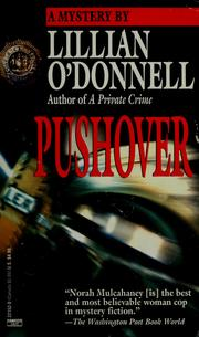 Cover of: Pushover by Lillian O'Donnell