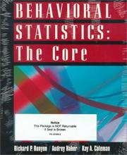 Cover of: Text With Study Guide for use with Behavioral Statistics by Richard Runyon