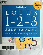 Cover of: Lotus 1-2-3 self-taught by Ira H. Krakow