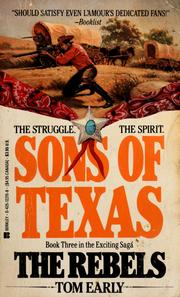 Cover of: Sons of Texas by Tom Early