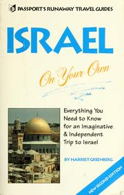 Cover of: Israel on your own | Harriet Greenberg