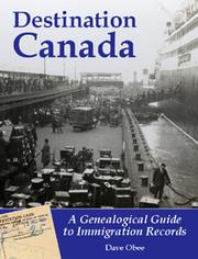 Cover of: Destination Canada by Dave Obee