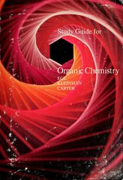 Cover of: Study guide for Organic chemistry | Seyhan N Eğe