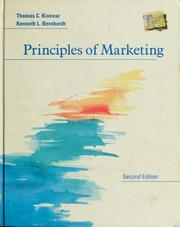 Cover of: Principles of marketing | Thomas C. Kinnear